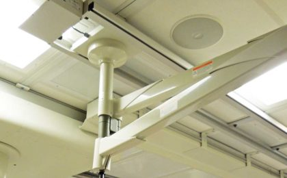 medical equipment supports by Fall Protection & Strut Systems, LLC