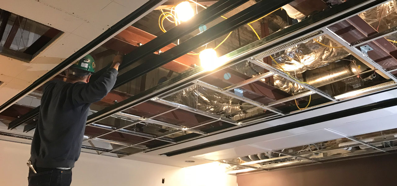 Drop Ceiling Grid CASE STUDY: How We Installed Without Welding