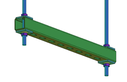 Pre-Assembled Trapeze Supports for Overhead Suspension & Overhead Support